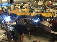 Students studying metal fabrication at Whittier Tech have been working on the wildcat statue over the last year. (Courtesy Photo Whittier Tech)