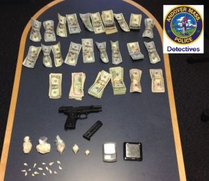 After an investigation, Andover Detectives served a search warrant on an Andover property today resulting in 3 arrests, and evidence consisting of $24,006 in cash, 137 grams of heroin, and a 9mm Berretta handgun. (Andover Police Photo)
