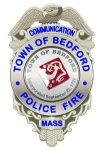Bedford Police Dispatch Badge silver