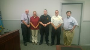 Michael Parr (center) is a second generation firefighter