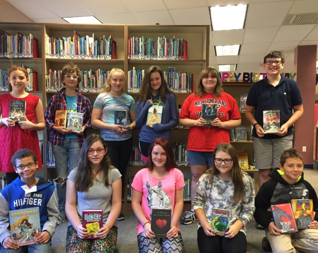 """Rochester Middle School students read for more than 300,000 minutes this summer, earning them the title of """"Best in State"""" for New Hampshire in the 2017Scholastic Summer Reading Challenge. (Courtesy Photo)"""