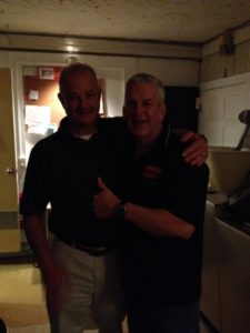 Chief Lyle (left) with Lenny Clarke