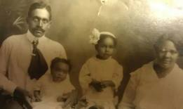 Wilbert and his wife Irene and daughters Helen and Lydia.