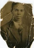 Young man in old photo
