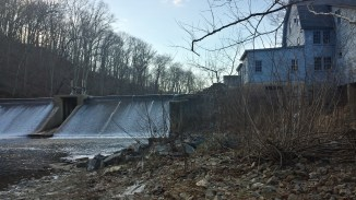 The dam at Eden Mill flows just as it did decades ago.