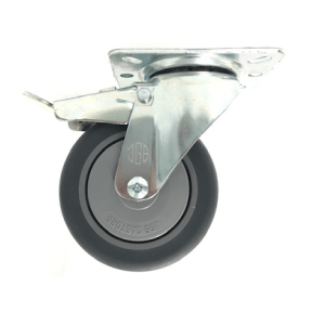 421 SERIES - GREY RUBBER (TPR) TOP PLATE CASTORS