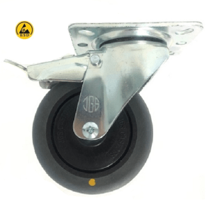 421 SERIES - GREY CONDUCTIVE (ESD) TOP PLATE CASTORS