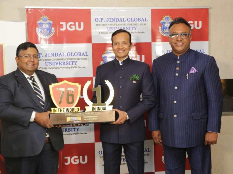 JINDAL GLOBAL LAW SCHOOL (JGLS) ENTERS GLOBAL TOP 100 IN THE WORLD