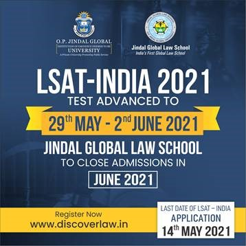 LSAT-India 2021 Online Entrance Test Advanced to 29 May Before the CBSE Examinations