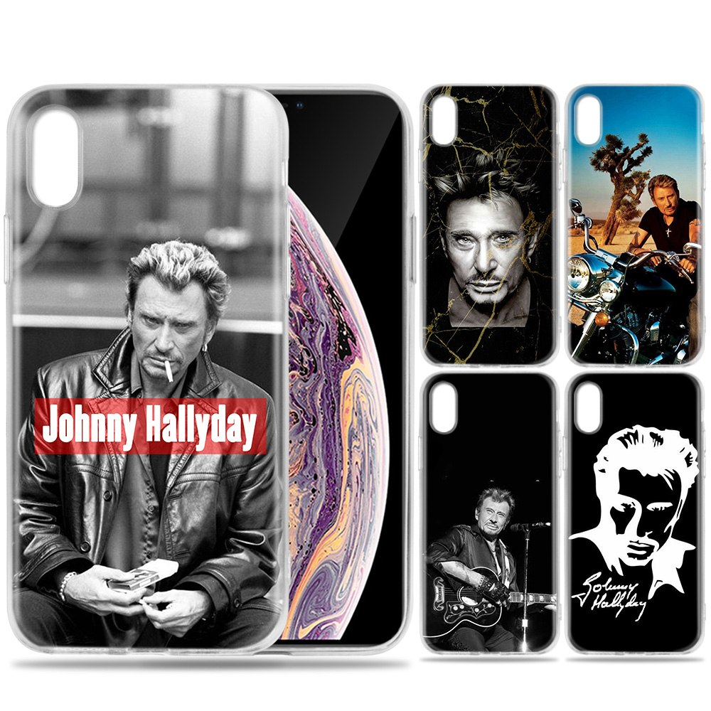 coque iphone xs johnny hallyday