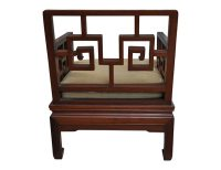 Pair of Antique Rosewood Meditation Chairs - The Local Vault