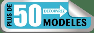 autocollant représentant 50 modèles disponibles