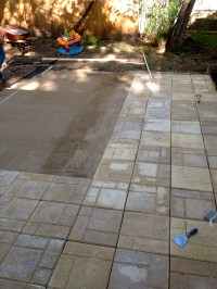 Bring on the yardwork- Part 1, Installing a Paver Patio ...