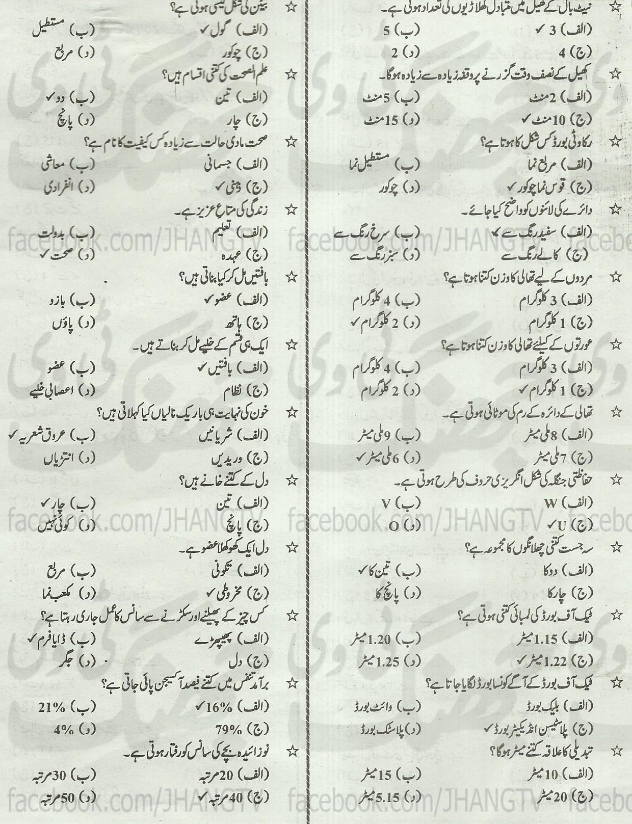 11th Class Guess Papers Sahet-e-Taleem 2014 All Boards