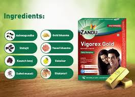 Zandu Vigorex Gold Capsule Ayurvedic Daily Energizer - 20 Capsules