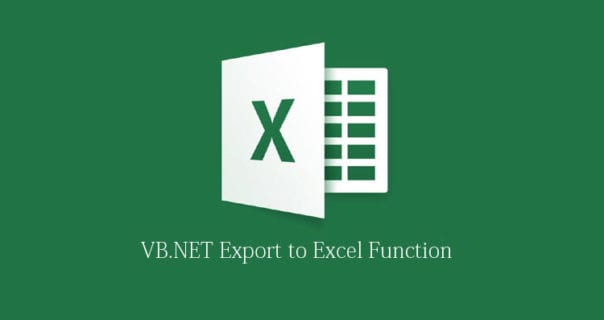 How to Export SQL Query to Excel file using VB.NET?
