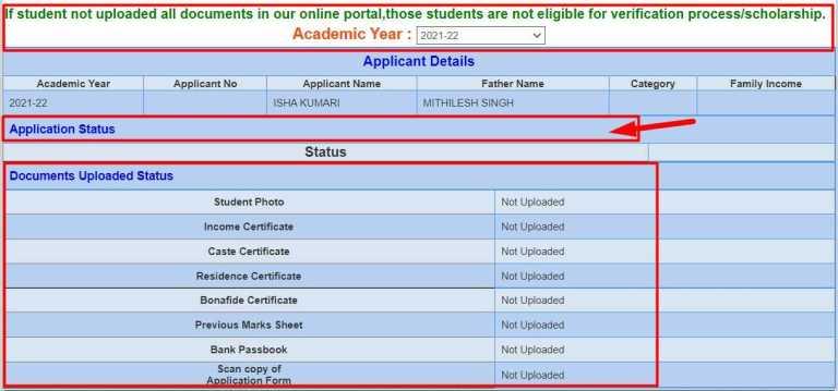 Jharkhand Scholarship status in Hindi