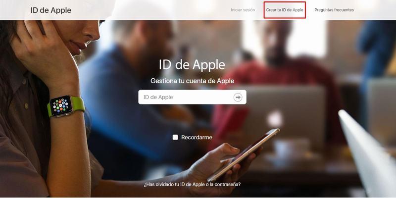 Crear un ID de Apple para abrir cuenta de iCloud