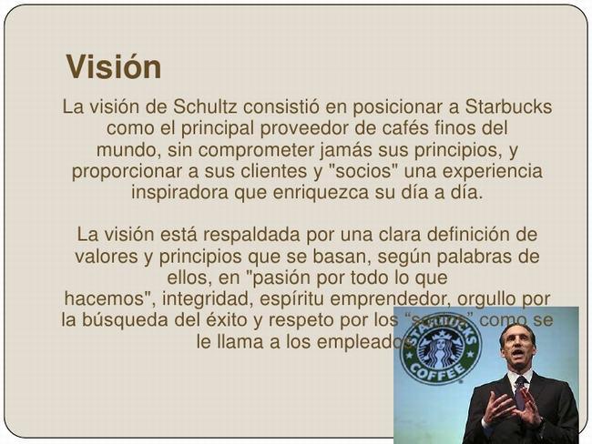 Visión de Starbucks - Misión, visión y valores de una empresa