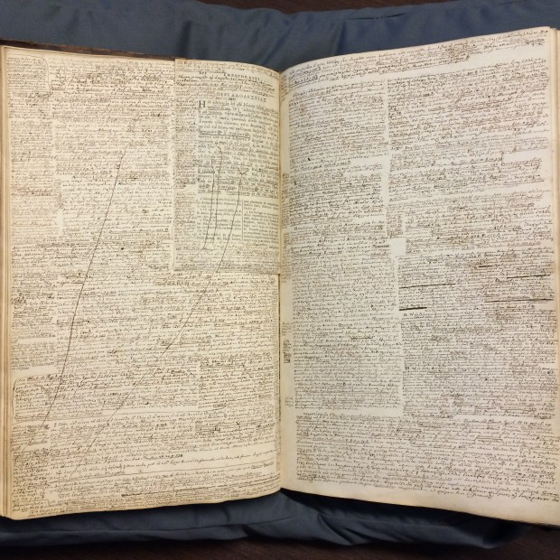 Fontein's working notes on Theophrastus. By permission of the Special Collections of the University of Amsterdam. Shelf mark: OTM Hs. XVI A5.