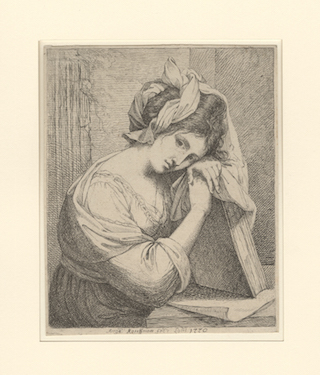 Angelica Kauffman (1741-1807), Self-portrait, 1770. Early state from the The Miriam and Ira D. Wallach Division of Art, Prints and Photographs: Print Collection, The New York Public Library.