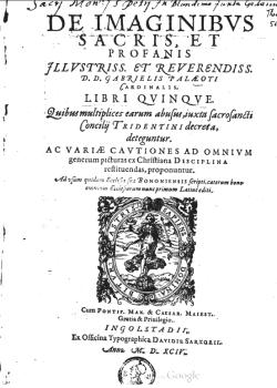 The 1594 Latin edition of Paleotti's discourse (Google Books).