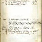 Circulation ledger featuring Melville's Society Library borrowing history, 1847-50. New York Society Library.