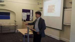 Speaker Christian Erbacher giving his talk. Author photo.