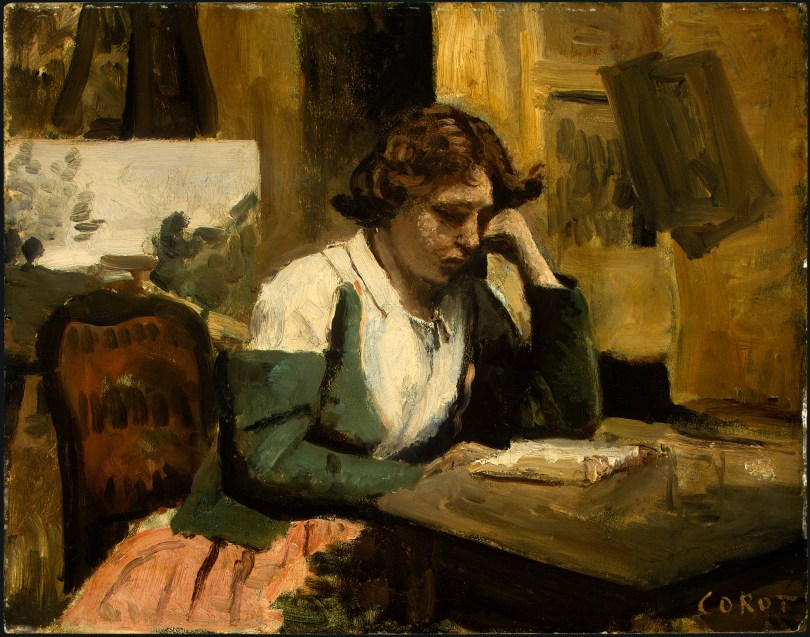 Young_Girl_Reading_by_Jean-Baptiste-Camille_Corot_c1868