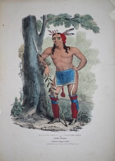 James Otto Lewis's rendering of American Indian Kaa Nun Der in 1835-6