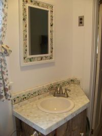 Sea Glass and Tile Bathroom   jhmayberry mosaics