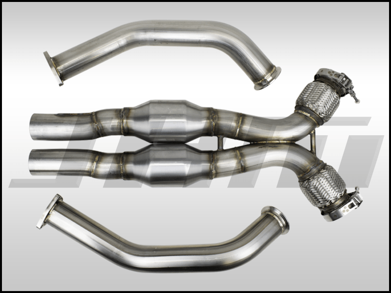 exhaust high flow cat downpipes with x pipe jhm for the b8 s4 s5 q5 sq5 c7 a6 a7 3 0t