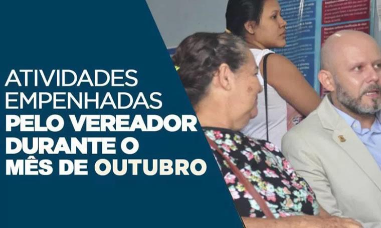 ATUAÇÃO – Atividades empenhadas pelo vereador Aleks Palitot durante o mês de Outubro