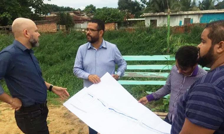 CANAL SANTA BARBARA: Aleks Palitot verifica andamento do projeto