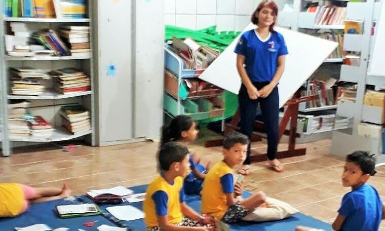 Escola municipal recebe assessores do Professor Aleks Palitot