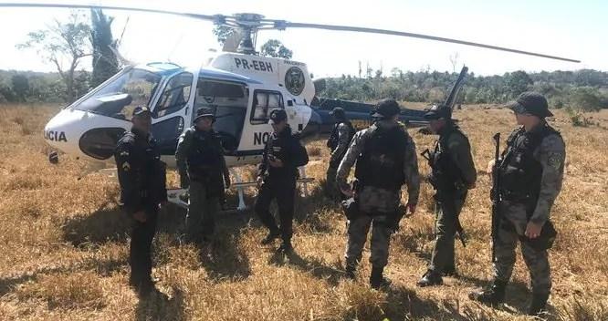 Polícia Militar faz operação para retirar sem-terras que invadiram fazenda