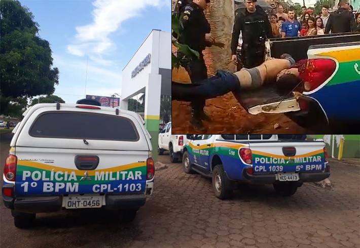 Suspeito morre em troca de tiros com policiais após assalto a comércio em Porto Velho