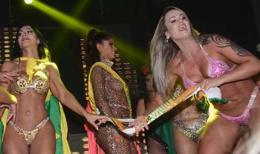 CONFUSÃO – Miss Bumbum de RO tem faixa arrancada por rival gaúcha