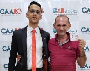 CONQUISTA – Aos 22 anos, filho de gari se torna advogado em Porto Velho