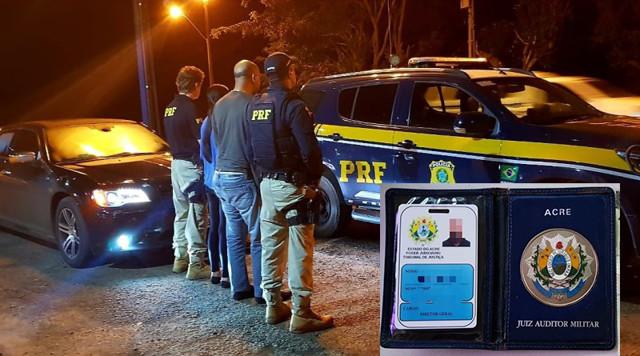 Em Jaru, falso juiz é preso pela PRF com arma e droga