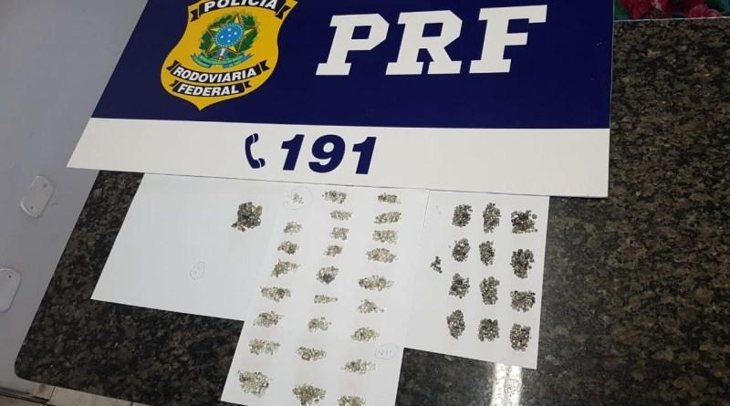 Casal é preso pela PRF com 1.930 pedras preciosas da Reserva Roosevelt