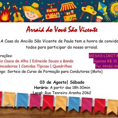 SEJA SOLIDÁRIO – Casa do Ancião realiza noite de arraial dia 3 de agosto em Porto Velho