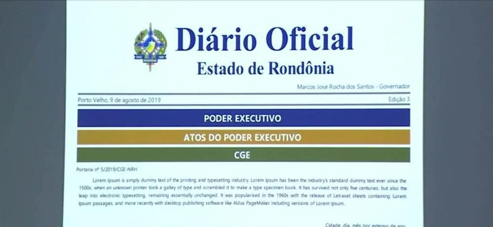 Automático e digital, novo Diário Oficial de Rondônia inicia nesta segunda