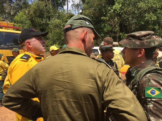 Israelenses e brigadistas de RO patrulham 180 km de extensão em um dia