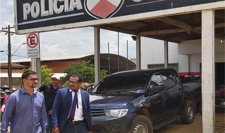 Anderson Pereira visita delegacia, quartel e presídio em Vale do Jamari