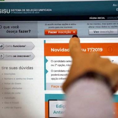 Inscrições para o Sisu poderão ser feitas a partir de 21 de janeiro
