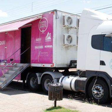 Carreta de mamografia do hospital de amor, estará em Jaru nos meses de janeiro e fevereiro de 2020