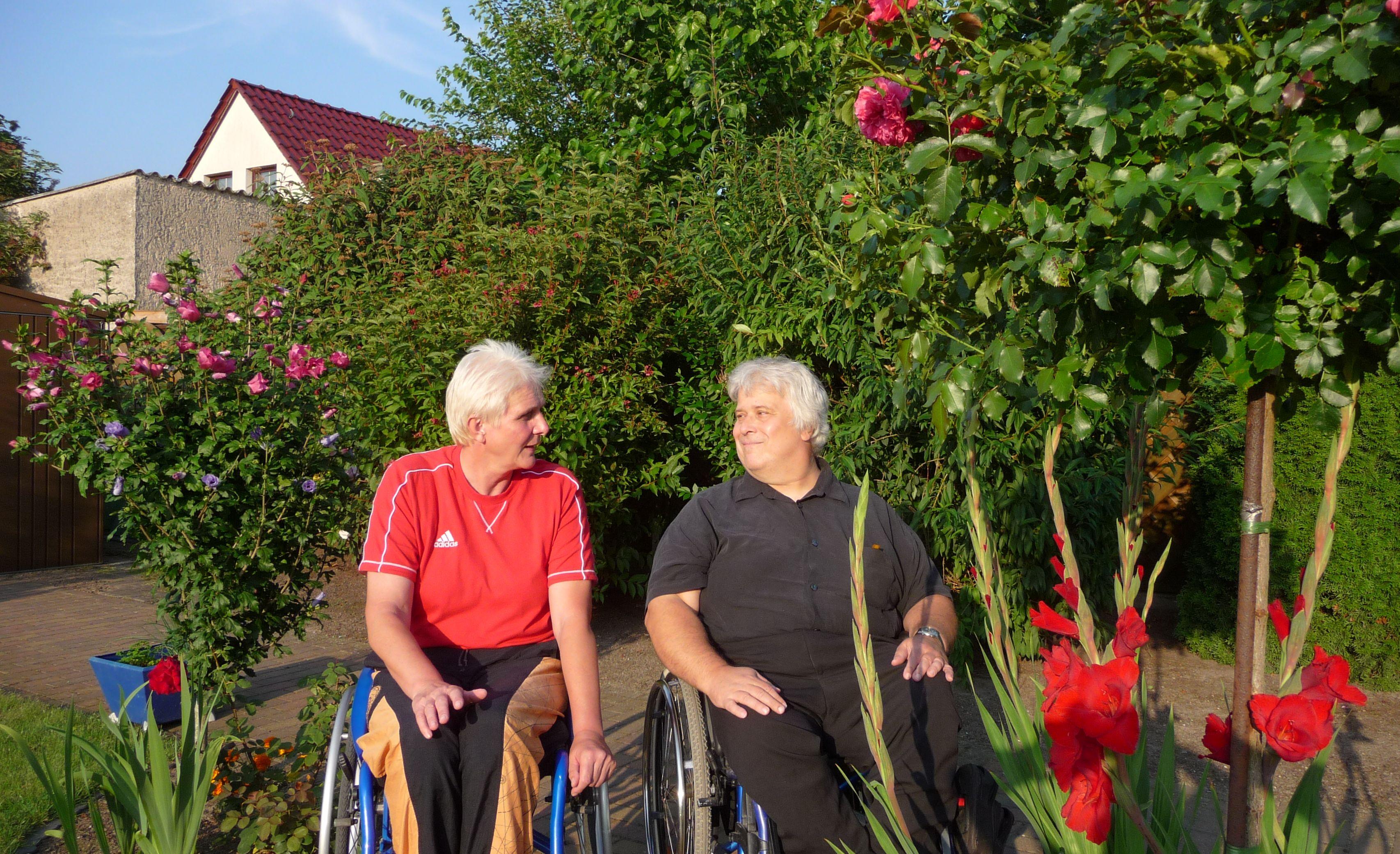 Marianne Buggenhagen, Jürgen Hobrecht im Bernauer Garten