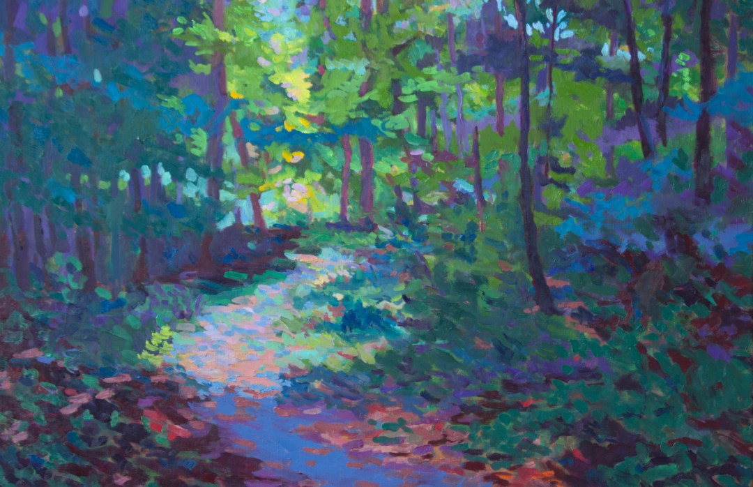 """Forest Path, 24 x 36"""", oil on canvas, available"""