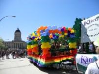 A float in the Winnipeg pride parade. Photo by Rachel Swatek